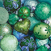 Shiny green baubles