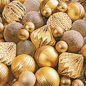 Shiny gold baubles