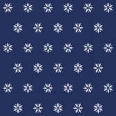 Snowflakes dark blue